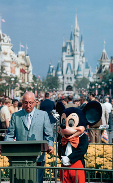 536ff5a2c Walt Disnery World opens in Lake Buena Vista, Florida, a 40-square-mile park  with Disney hotels to woo East Coasters.