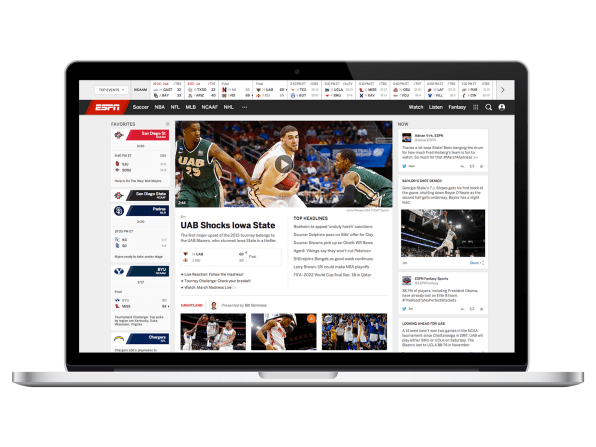 ESPN Just Redesigned Its Site For The First Time Since 2009