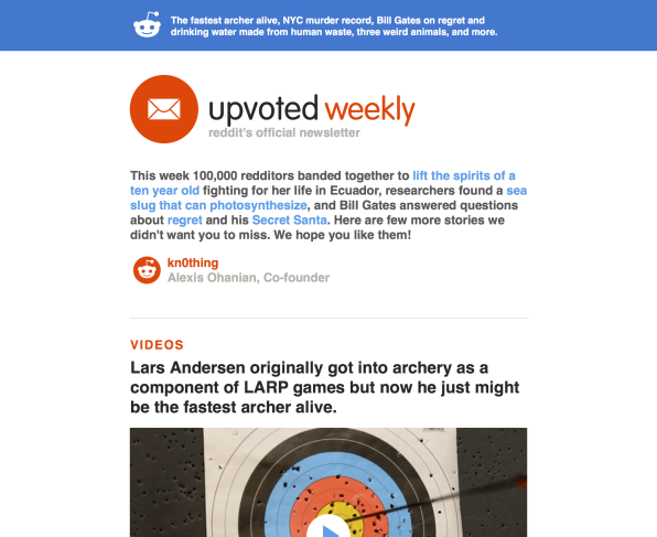 Now You Can Get Reddit In Newsletter Form