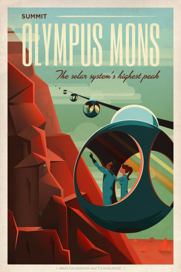 SpaceX Promotes Mars Tourism With A Few Awesome Posters