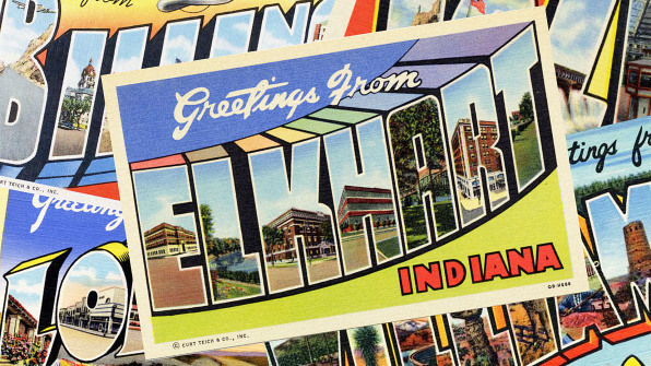 Iconic Big Type Postcards Make Small-Town America Alluring