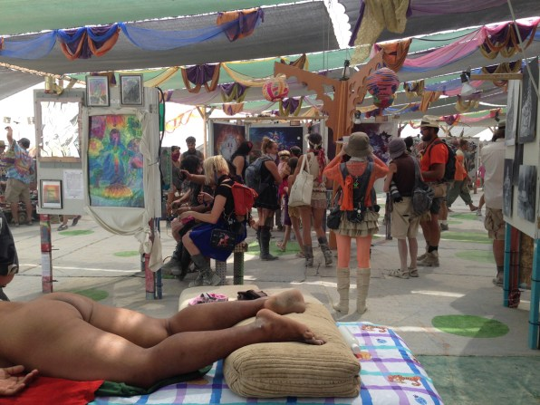 at burning man Naked