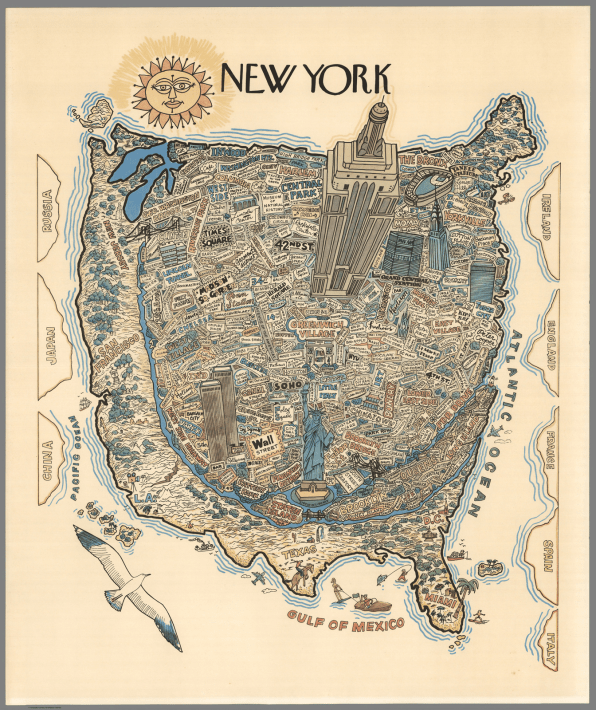 View Map Of The World.Here S A Map Of The World From A New Yorker S Point Of View