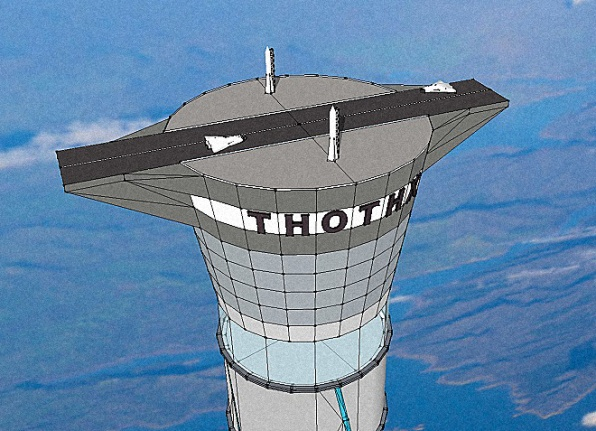 This Inflatable Space Elevator Could House Hotels and Airports High In The Sky