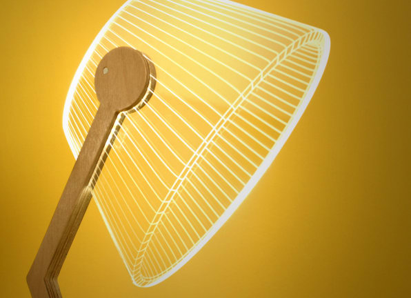 These Mind-Bending Lamps Are Really Just 2-D Cut-Outs