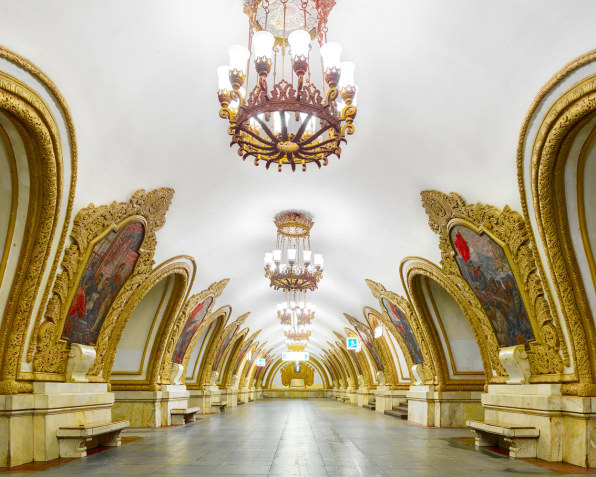 Enter The Ornate World Of Russia's Underground Stations