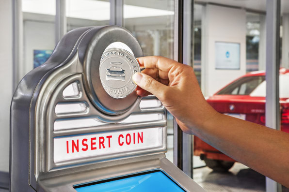 This 5-Story Glass Car Vending Machine Is Coin-Operated