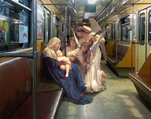 See Historical Painting Figures Blended Seamlessly Into