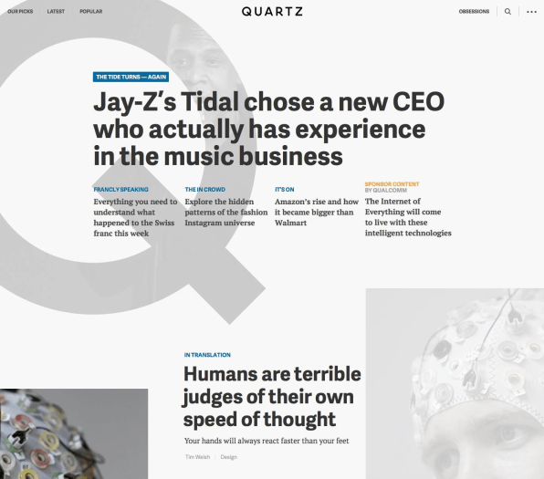 Traditional Homepages Are Obsolete, Says Quartz. Here's What They Built Instead.
