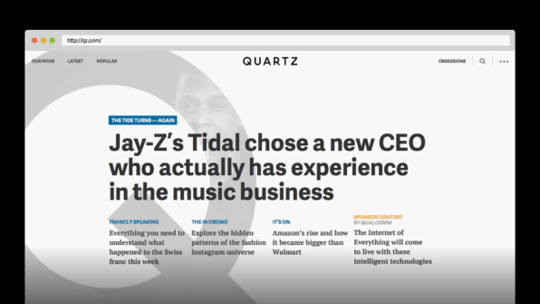 traditional homepages are obsolete says quartz here s what they buil