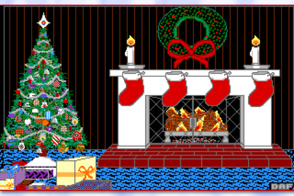 Christmas Fireplace Scene Clipart.The Oddball Nostalgia Inducing Christmas Tech Art Of The