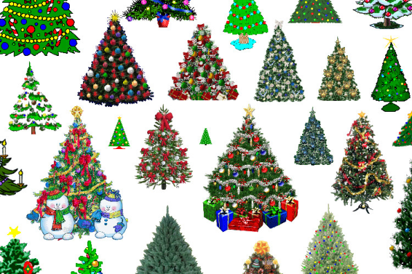 christmas tree art i harvested from geocities web pages years ago they did not grow naturally this way rather i arranged them into a forest myself - Christmas Tree Art