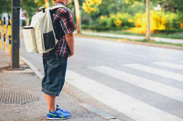Teenagers Walking To School Alone