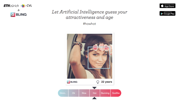 Blinq dating app uses ai to judge hotness meter