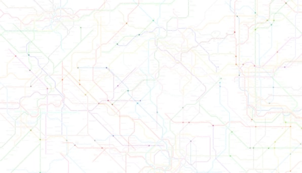 Creative Subway Map.214 Subway Systems Combined Into One Worldwide Metro Map
