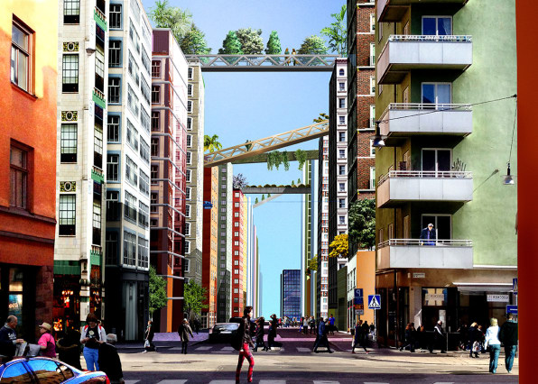 This Design For A Dense City Lets You Walk From Roof To Roof