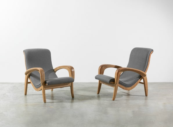 Pair Of Lounge Chairs For The Organic Design Competition, Museum Of Modern  Art, 1941