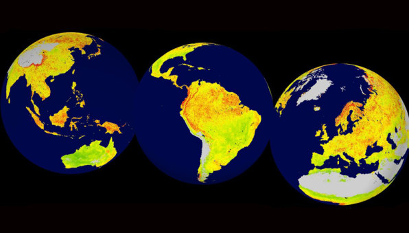 This map shows the world regions that are most at risk from big climat places like the amazon rainforest and the arctic tundra are especially sensitive to changes in the climate along with grasslands in north america gumiabroncs Images