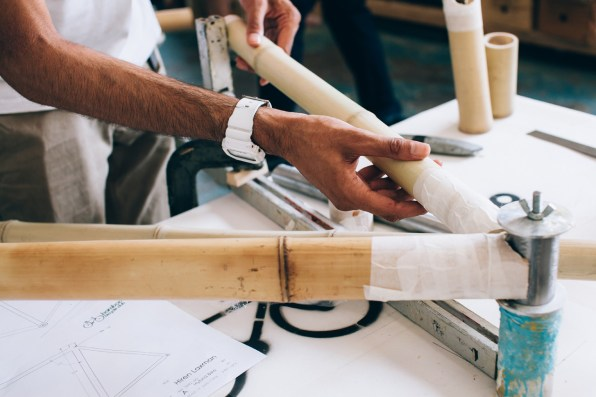 This custom 200 bike frame could be 3 d printed in your living room you could probably do the whole thing for 200 maybe 150 says james marr part of the bamboo bicycle club the team prototyping the system now solutioingenieria Images