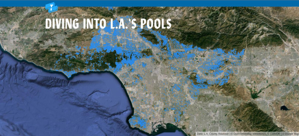 A Crazy Map Of 250,000 Swimming Pools Reveals Los Angeles ...