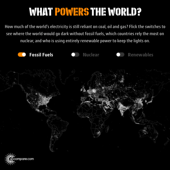 See Which Parts Of The World Still Run On Fossil Fuels With This Interactive Map