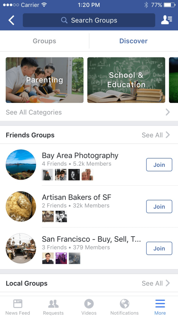 Facebook Launches New Discovery Tool For Groups