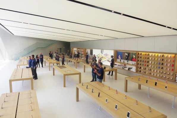 At Apple's New San Francisco Store, The Indoors Feels Like