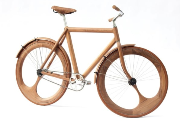 A Stunning Handmade Bike Built Out Of Wood