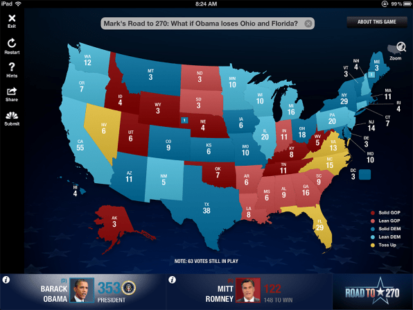 Msnbc Political Map.Nbc S New Election App Lets You Imagine Texas As A Blue State