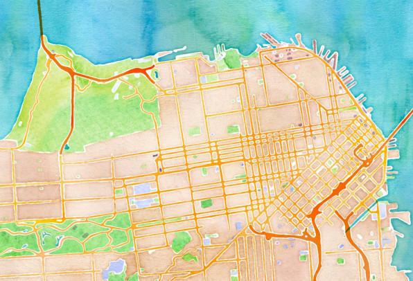 on digital maps