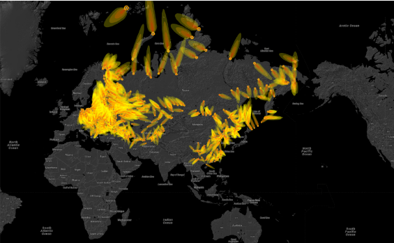 Chilling animated map shows fallout if a nuclear attack happened today