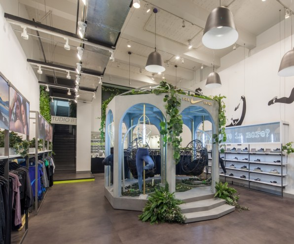 ec4fc60de2ae Nike takes over Bandier's flagship store to launch its new women's tig
