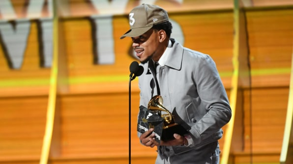 Chance the Rapper's historic Grammy win should worry record labels