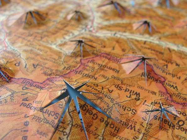 Gorgeous Collages Made Entirely Of Old Maps