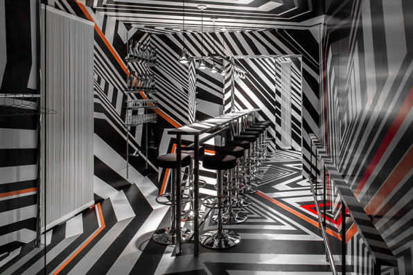 An Artist Re-Creates A German Bar In New York, With A Psychedelic Twist