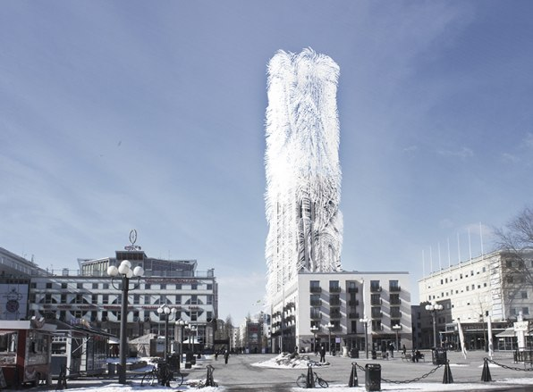 """Architects Dream Up A """"Hairy"""" Skyscraper That Produces Its Own Energy"""