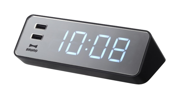 An All-In-One Digital Clock And iPhone Charger