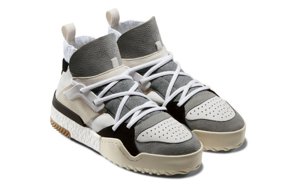 5c5b5bcb634a Alexander Wang s collection includes a deconstructed basketball shoe.