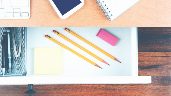 this is how to organize your messy desk drawers at work