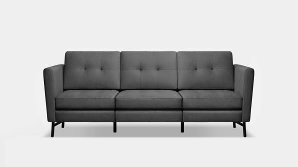Burrow S Charcoal 3 Seater With Hi Arms Photo Courtesy Of