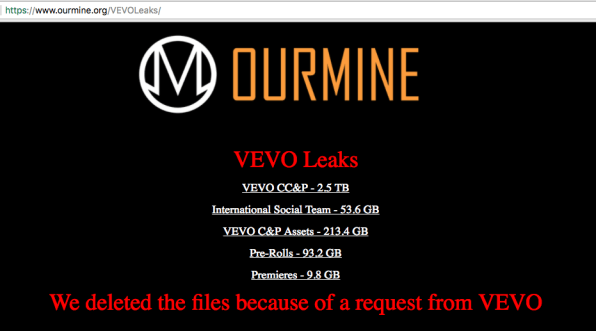 Look what you made us do, hackers tell Vevo after dumping