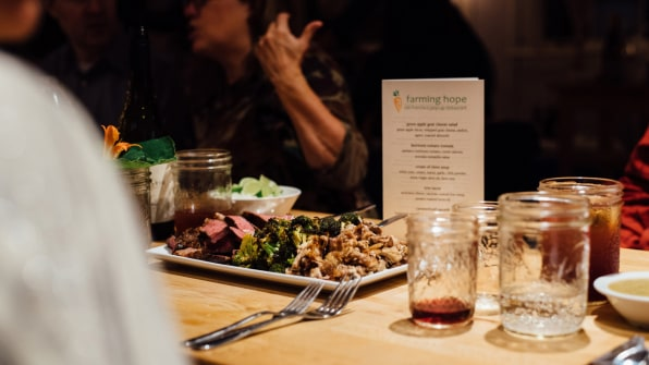 at these pop up dinners the chefs and the guests are homeless