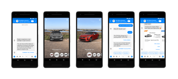 4320b1cb8da3 Facebook s Messenger is helping brands dabble in AR