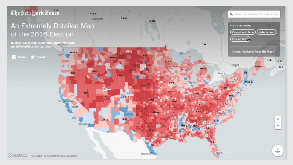 Political voting maps are useless