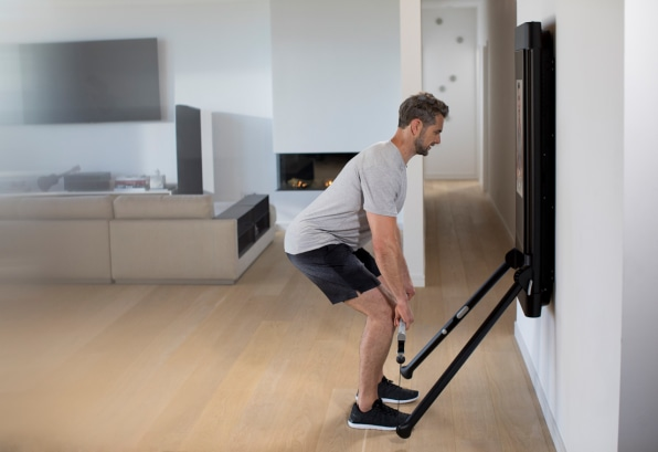 This $2 995 home gym is like peloton for weight lifting