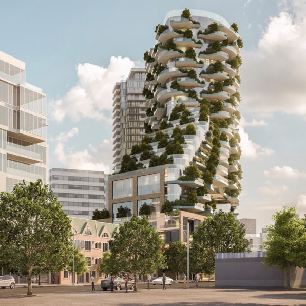 This Toronto skyscraper is covered with 450 trees