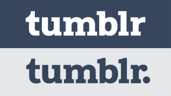 The New Tumblr Logo Top And Previous Version Bottom Images