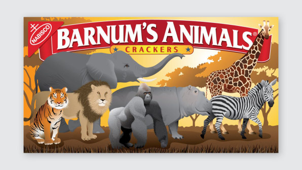 animal cracker box redesign