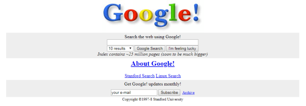 The earliest versions of Google's top products
