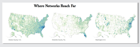 This data viz maps Facebook connections across the country Zucke Map Of The Digital World on